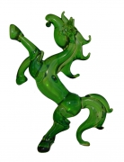 Green Glass Horse Statue