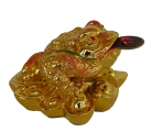 Golden Feng Shui Money Frog with Coin