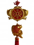 New Year Decoration Charm - Good Luck Fish and Fortune Coin