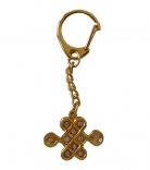 Bejeweled Mystic Knot Amulet Keychain