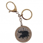 Blue Rhino and Elephant Amulet - Anti-Burglary Keychain