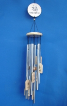 6-Rod Silver Wind Chime
