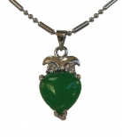 Heart-Shaped Jade Pendant