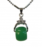 Rotatable Drum-Shaped Jade Pendant