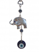 Wall Hanging Elephant Charm with Evil Eyes