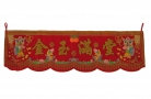 Red Scroll Banner for Wealth