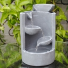 Grey Mini Tabletop Fountain
