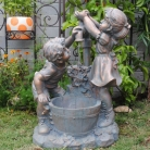 Play Child Water Fountain Boy And Girl