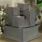 Tealight Pillar Tabletop Fountain