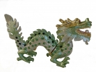 Bejeweled Green Dragon Statue