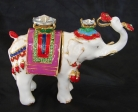 Bejeweled Elephant Statue Carrying Ru Yis