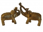 Pair of Brass Elephant Statues