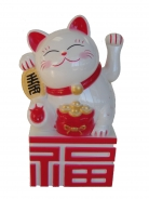 White Money Cat on Fu