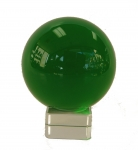 Green Crystal Ball with Crystal Stand