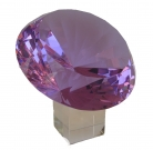 Purple Diamond Crystal with Stem