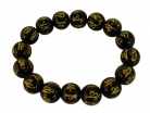 Black Obsidian Bracelet with Mantra