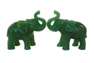 Pair of Green Elephant Statues