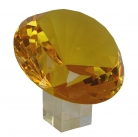 Yellow Crystal Diamond with Crystal Stand