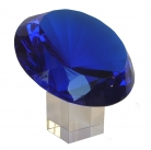 Blue Diamond Crystal with Stem