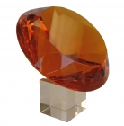 Orange Diamond Crystal with Stem