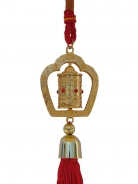 Golden Twirling Prayer Wheel Charm