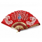Hand Fan with Peacock Picture in Different Colors