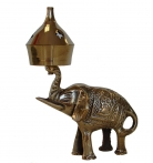 Brass Incense Oil Burner with Elephant