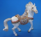 White Bejeweled Horse Statue