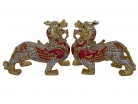 Pair of Bejeweled Pi Yao