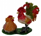 Bejeweled Rooster and Hen