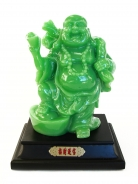 Green Chinese Buddha Stepping on Ingot