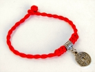 Red Bracelet with Coin