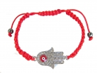 Jeweled Red Hamsa Hand Bracelet