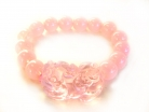 Pink Liuli Bracelet with Big Pi Yao