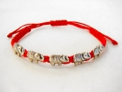 Red Bracelet with 5 Elephant Charms