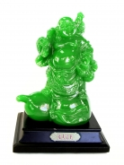 Green Chinese Buddha Stepping on Wu Lou
