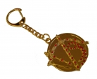 Golden Enthrallment Amulet Medallion Keychain