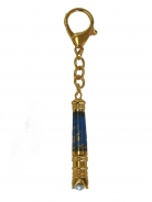 Blue Victory Dragon Baton Key Chain