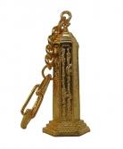 Golden Mantra Pagoda Keychain Amulet