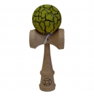 Black/Yellow Crackle Kendama