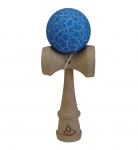 White/Blue Crackle Kendama