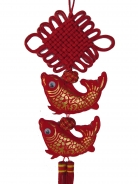 New Year Charm - Double Fishes with Mystic Knot