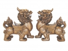 Pair of Golden Pi Yao Statues