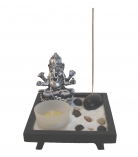 Small Desktop Zen Garden with Ganesh Statue