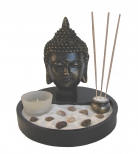 Desktop Zen Garden with Buddha Head Statue