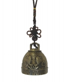 Bell Charm with Double Fishes