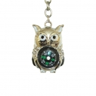Wise Owl Compass Key chain
