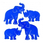 Blue Rhino and Elephant Decals Sticker