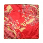 Red Fire Double Dragon Cushion Cover