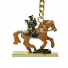 Brown Tribute Horse Keychain Amulet